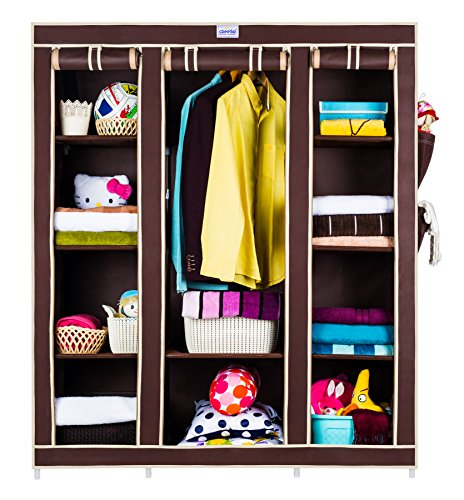CbeeSo 10 Racks High Capacity Metal Frame Foldable Wardrob