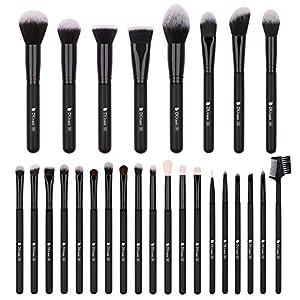 DUcare Brochas de Maquillaje 15 Piezas con Bolsa Premium Brochas Maquillaje Cerdas de Fibra Sintética Suaves y sin Crueldad kit Brochas Maquillaje