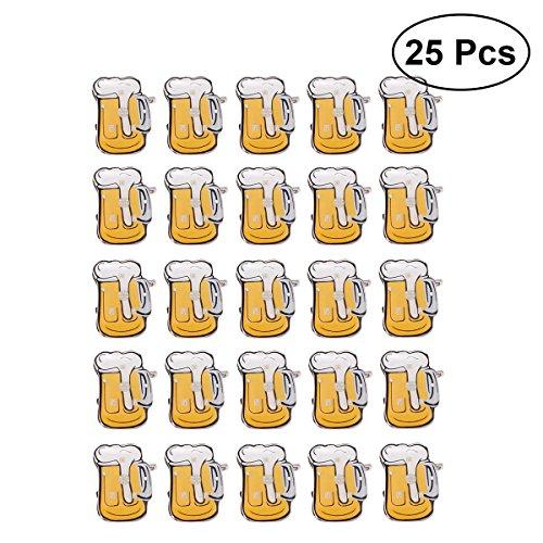 YeahiBaby Blinky Brosche LED Licht Bier Becher Form Abzeichen Bar Party Oktoberfest Deko 25 Stück (Zufällige Farbe)