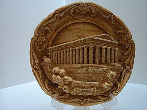 Souvenir Sicile plat artistique déco Temple de la Concorde Agrigento