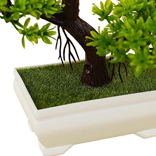 LWBAN-flower Bonsai künstlich, mit Schale, Höhe 20cm – Kunstbonsai Kunstpflanzen Dekopflanzen künstliche Bonsai Bäume, 18