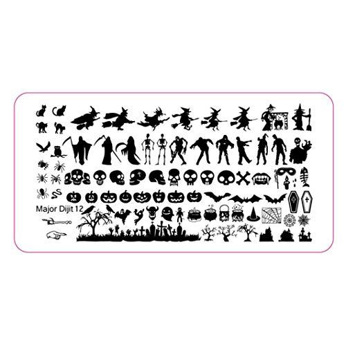 DIY Nail Stamping Druckplatte Stamping Maniküre Nail Art Decor Bild Briefmarken Platte B Langlebig und nützlich ()