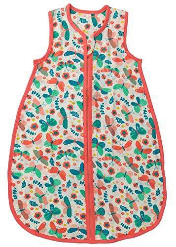 Schlummersack Baby Sommerschlafsack ungefüttert aus Bambus-Musselin 0.5 Tog - Schmetterling - Mädchen - 0-6 Monate/70 cm Baby 0 3 Monate