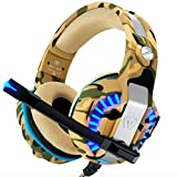 Gaming Headset, PS4 Headset, Xbox One Headset, PC Camouflage