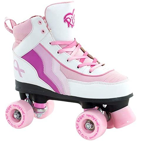 Rio Roller Limited Edition Quads Cancer Research White/Pink 6uk - Mens Supporto Semi