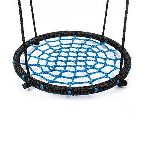 IBUYTOP Schaukel Set Zubehör Untertasse Spinner Swing Einfach auf Schaukel Set oder Baum Polyethylen Seil mit Stahlrahmen 24