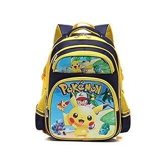 51RwatiBOEL. SS324  - Mochila Pokemon Infantil,Escolar Mochila Pokemon Go Pikachu Eevee Amarillo Negro para Niños y Niñas Unisex Bolsa Portátil para Mujeres Hombre Viaje Backpack para Estudiantes Adolescentes