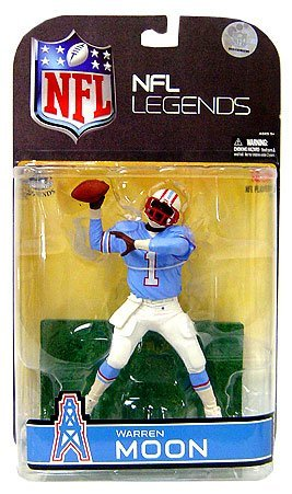 Sports Picks McFarlane Toys NFL Legends Series 4 Action Figure Warren Moon (Houston Oilers) Blue Sleeves Variant by -