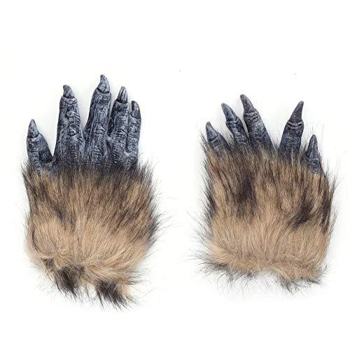 Plus Für Kostüm Erwachsene Werwolf - lingzhuo-shop Latex Plüschtier Handschuhe Wolf Wolf Handschuhe Halloween Weihnachten Karneval Bar Requisiten Biest Kostüm Passende Handschuhe
