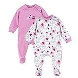 Bornino 2er-Pack Schlafoverall/Babybekleidung/Schlafanzug mit Reißverschluss / 100% Baumwolle