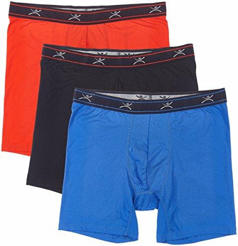 Terramar Herren silkskins 15,2cm Boxer Slip mit Beutel (Pack von 3) Medium Black/Royal/Red - Comfortsoft-bund Knit Boxer