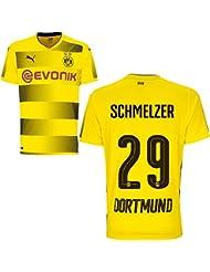 Puma BVB Borussia Dortmund Home Trikot 2017 2018 Heimtrikot mit Spieler Name Farbe Schmelzer, Größe 152