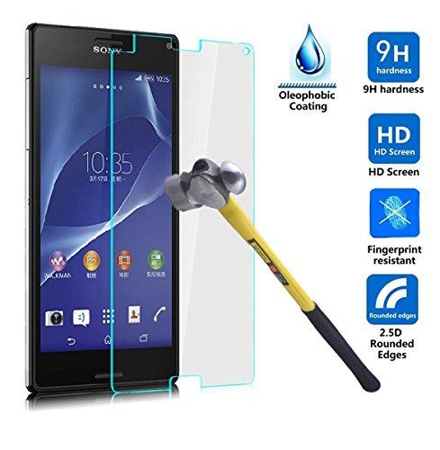 ELTD Sony Xperia X Compact Displayschutz, Premium Tempered Glas 0.3 mm Screen Protector & Displayschutzfolie für Sony Xperia X Compact 4.6 Zoll, Glass