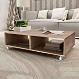 vidaXL Table basse Bois massif Marron