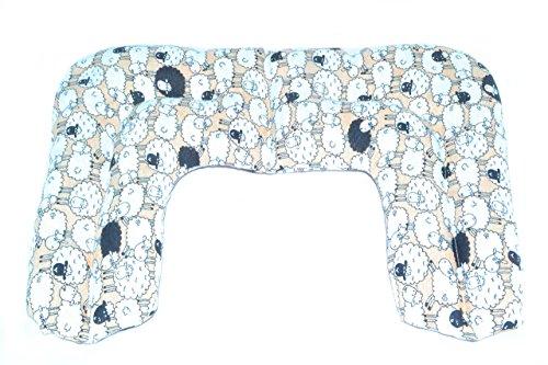Saco térmico de semillas Sacatusaco, modelo cervical con diseño de ovejitas. Aroma de lavanda 100% natural, con medidas 42x26cm.