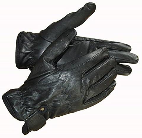 Gants d'équitation en cuir pour enfant Cheval Noir Marron Crème Mains sur Equestrian noir Noir grand