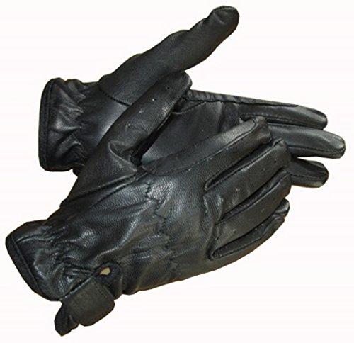 Kinder Reithandschuhe, Leder, Schwarz, Braun, Tan, Hände an Equestrian schwarz schwarz M