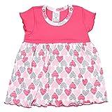 TupTam Baby Mädchen Body-Kleid Kurzarm Sommerkleid Baumwolle, Farbe: Herzen Koralle, Größe: 92