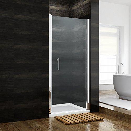 Preisvergleich Produktbild Nischentür Duschabtrennung 90 x 185 cm Duschtür Pendeltür Duschwand Echtglas