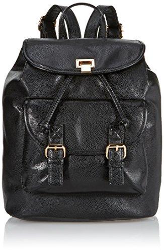 Buffalo Bag 214AB0281 PU Damen Shopper 15x33x28 cm (B x H x T), Schwarz (Black 01) (Rucksack Buffalo)