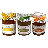 Farm Naturelle-100% Pure Raw Natural Jungle/Forest Honey, Forest Acacia Honey N Wild Berry Sidr Honey(815 Grams...