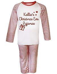 Personalizable Nochebuena pijama Navidad bebé pijama infantil Navidad regalos Pjs de Navidad niños Christmas Eve cajas
