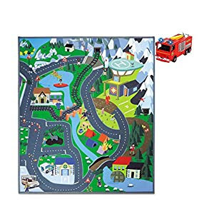 Dickie Toys Fireman Sam Mountain Rescue Multicolor Manta de Juegos para bebés - Gimnasio para bebé (Manta de Juegos para bebés, Multicolor, 4 año(s), Tráfico, 70 cm, 800 mm)
