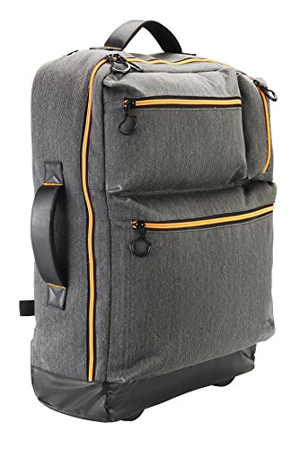 Cabin Max Oxford 55x40x20cm Carry On luggage - Multi-function backpack and trolley (Grey)
