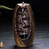 Bouncevi Backflow Incense Burner Ceramic Incense Burner Home Accessories Retro Style Cone-Shaped Aromatherapy