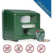 Repelente de plagas 1500m2, roedores, insectos con Control Remoto Repelente Ultrasonico Ahuyentador Repelente para Gatos y Perros