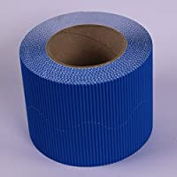 BCreativetolearn Azure Blue Coloured Wall Board Display Border Corrugated Card Roll Scalloped Edging