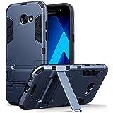 Coque Galaxy A5 2017, Terrapin Double Couche Étui Rigide avec Fonction Stand pour Samsung Galaxy A5 2017 Étui - Bleu Foncé