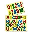Little Genius ABC and 123 Combo Puzzle, Multi Color