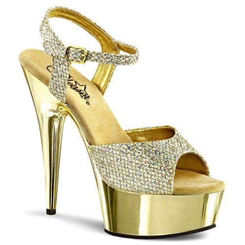 perfetto Pour oro Sandales Femme Tacchi Gold O S7BfPwqw