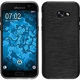 Coque en Silicone pour Samsung Galaxy A5 2017 - brushed argenté - Cover PhoneNatic Cubierta + films de protection