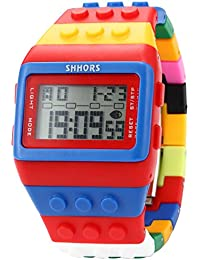 AMPM24 LED090 - Reloj Digital Unisex, Correa de Goma, Multicolor, LED, Deportivo