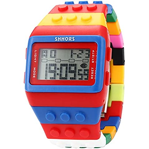 AMPM24 Reloj Digital Unisex, Correa de Silicona, Multicolor, LED, DeportivoLED090