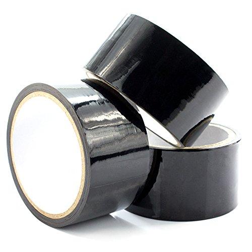 marielove Premium 3x Bondagetape 15m x 5cm, Bondage Sexspielzeug zum Fesseln, Sadomaso und Fetisch - Schwarz