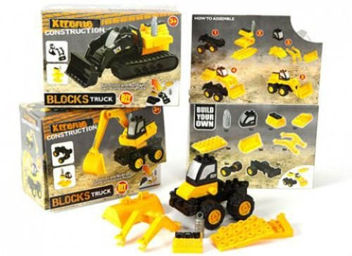 1 x-Geschenk-Spielzeug Baufahrzeug Baustein Ziegel Spielsets
