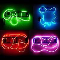 SODIAL(R) Cable Neon Brillante Efecto Estroboscopico Electroluminiscente (Cable EL) - Verde
