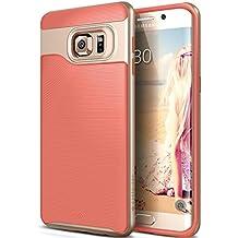 Funda Galaxy S6 Edge Plus, Caseology® [Serie Wavelength] Duradero Antideslizante Gota de Protección [Rosa del Coral] para Samsung Galaxy S6 Edge Plus (2015) - Rosa del Coral