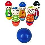 MagiDeal Mini Bowling für den Schreibtisch, Kinder Spielzeug - Holz Spielset, Miniatur Kegeln Fingerbowling Bowlingset