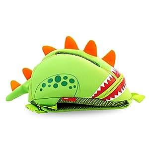 GreenForest Nursery Kids Backpacks for Boys Girls Toddler - Funny Dinosaur Backpack Cute Green(11.8*9.3*5.5 inch) - Best Gift For 3-8 years old Girls