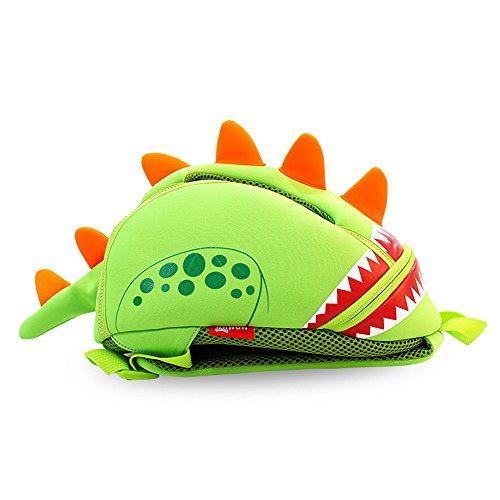 GreenForest bambini regalo bambino Zaini bambini zaino - divertente dinosauro carino Green(11.8*9.3*5.5 inch) - Natale regali per ragazze 3-8 anni