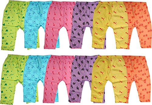 Kifayati Bazar New Born Cotton Pyjama / Bottom Wear For Kids, Pack Of 12