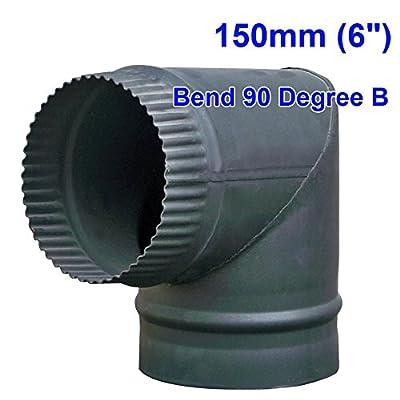 "Lincsfire 5"" 6"" Flue Pipe Chimney for Wood Burning Log Burner Multifuel Stove"