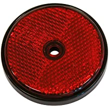Catadioptrico rojo redondo 70mm 2p