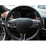 Para Maserati Levante para Ghibli para Quattroporte 2016ABS volante botón marco de coche adhesivo