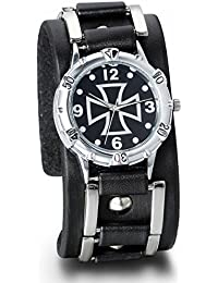 JewelryWe Leathernk Rock Collection - Reloj de pulsera unisex 0a56cfe1b1fd