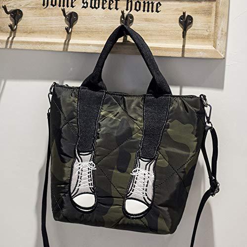 LFGCL Taschen womenJoker Handtasche Temperament einfache Schulter Muttertasche, Camouflage